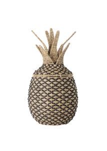 Ananász alakú tároló kosár. Mérete Ø40x80 cm