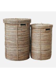 Bambusz fedeles kosár szett 2 db
