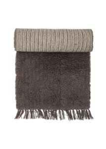 Barna gyapjú szőnyeg 240x70 cm