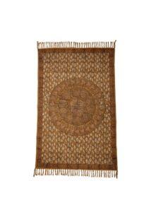Barna kör mintás pamut szőnyeg 180x120 cm