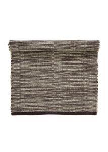 Barnásfekete gyapjú szőnyeg 120x65cm