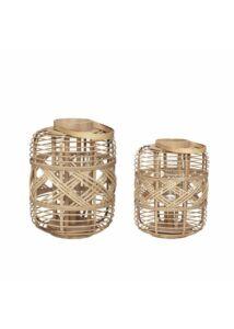 Bohém bambusz lámpás szett 2 db