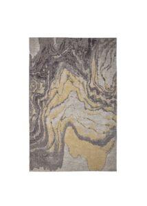 Egyedi mintás szürke és sárga szőnyeg