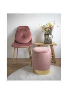 Elegáns rózsaszín bársony puff
