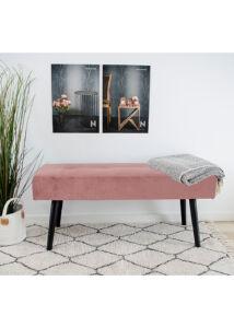 Elegáns rózsaszín bársony ülőpad
