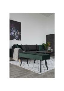 Elegáns sötétzöld bársony ülőpad