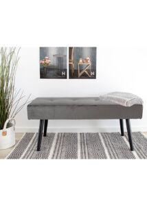 Elegáns szürke bársony ülőpad