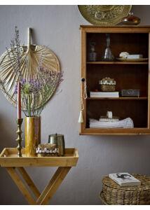 Elegáns üvegajtós fenyő szekrény
