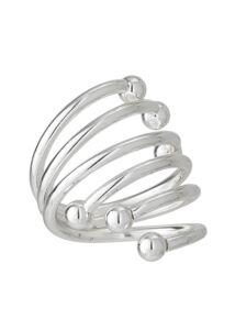 Ezüst csavarodó szalvétagyűrű 24 db
