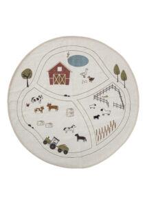 Farm mintás kör alakú gyerek szőnyeg 130 cm