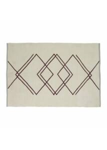 Fehér és bordó mintás szőnyeg 120x180 cm