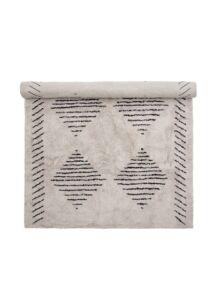 Fehér pamut szőnyeg mintákkal 200x140 cm