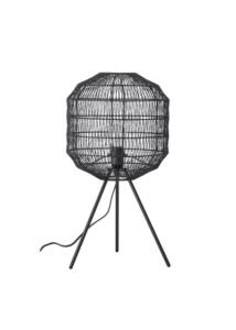 Fekete fém asztali lámpa