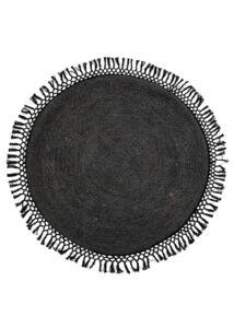 Fekete kör alakú juta szőnyeg