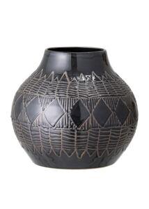 Fekete mintás kerámia váza
