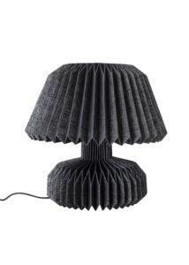 Fekete papír asztali lámpa