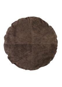 Földbarna,kör alakú szarvasbőr párna Ø45 cm 2db
