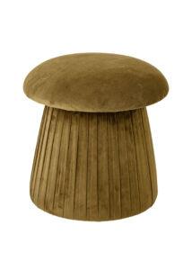 Gomba alakú bársony puff