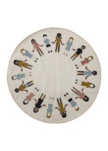 Gyermek mintás kör alakú gyerek szőnyeg 130 cm