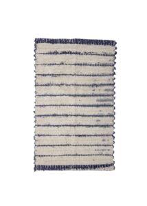 Kék csíkos pamut szőnyeg 120x70 cm