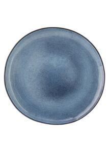 Kék kerámia nagy lapostányér 4 db
