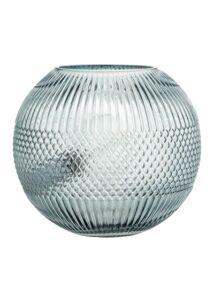 Kék üveg kerek asztali lámpa 25 cm