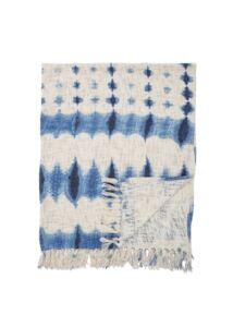 Kék mintás pamut takaró160x130 cm