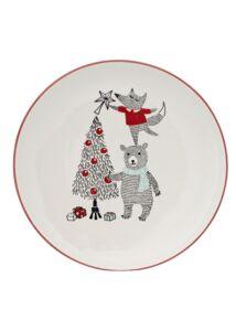 Macis karácsonyi kerámia lapos tányér 2 db