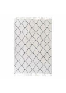 Modern fehér pamut szőnyeg 180x120 cm