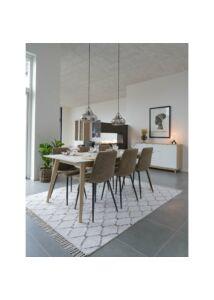 Modern fehér pamut szőnyeg 240x180 cm