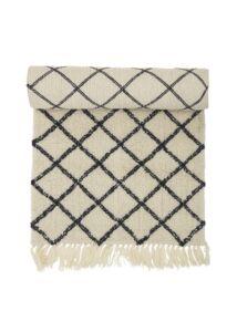 Natúr gyapjú szőnyeg 200x70 cm