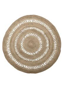 Natúr kör alakú juta szőnyegØ182cm