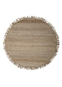 Natúr kör rojtos juta szőnyeg Ø150 cm