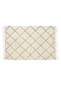 Natúr szürke mintás pamut szőnyeg 120x180 cm