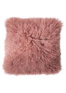 Pasztell rózsaszínbáránybőr párna 40x40 cm