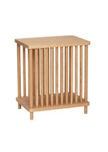 Rácsos tölgyfa kisasztal