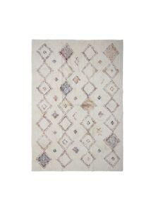 Rombusz mintás pamut szőnyeg 180x120 cm