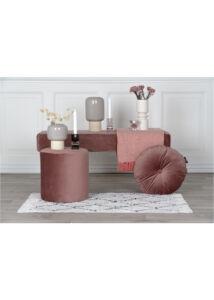 Rózsaszín kerek bársony párna ø45 cm 2 db