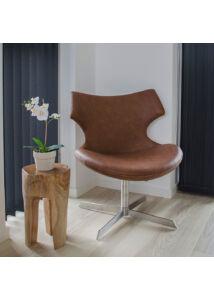 Rusztikus 3 lábú teakfa kisasztal