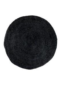 Sötétszürke kör alakú juta szőnyeg Ø180 cm