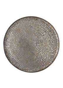 Szürke mintás nagy fém tálca Ø50 cm