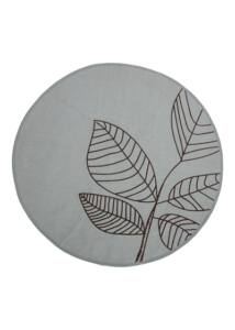 Szürkészöldkör alakú pamut szőnyeg Ø120cm