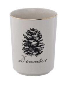 Toboz mintás karácsonyi kerámia csésze és tál szett