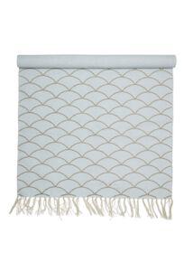 Világoskék pamut szőnyeg egyedi mintával 120x60cm