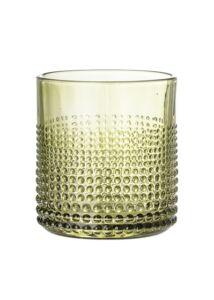 Világoszöld üveg vizespohár készlet 6 db 300 ml