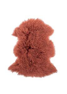 Vörös báránybőrüléstakaró 90x50 cm