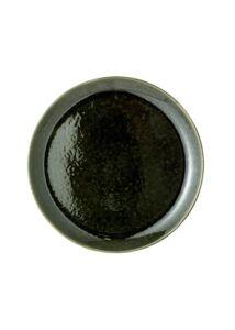 Zöld kerámia lapostányér 6 db