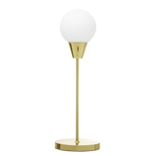 Arany asztali lámpa fehér gömb búrával 55 cm