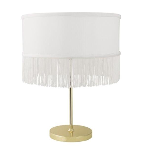 Arany fehér rojtos asztali lámpa 45 cm