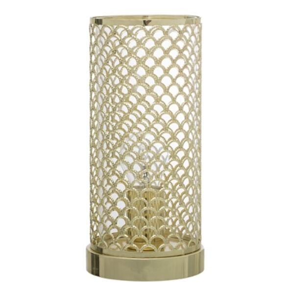 Arany rácsos asztali lámpa 28 cm